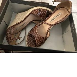 Via Spiga espadrille wedges